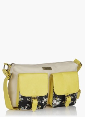3 Mad Chicks Women Yellow PU Sling Bag