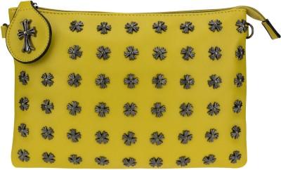 Kaos Girls, Women Yellow PU Sling Bag