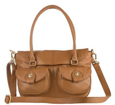 Klasse Women Casual Tan Genuine Leather Sling Bag