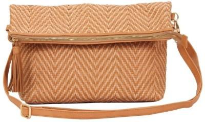 SVI Women Casual Beige Genuine Leather Sling Bag