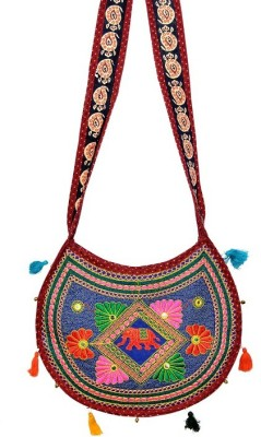 Fineline Retails Women Casual Multicolor Cotton Sling Bag