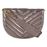 Berrypeckers Women Silver PU Sling Bag