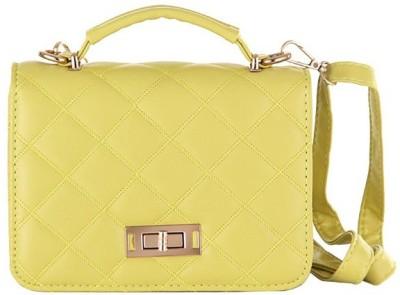 Aliza Women Formal Yellow PU Sling Bag