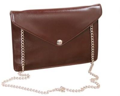 Ellye Girls Evening/Party Brown PU Sling Bag