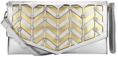 Liza Women, Girls Silver, Gold PU Sling Bag