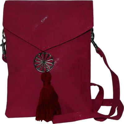 Arabian Nights Women Red Leatherette Sling Bag