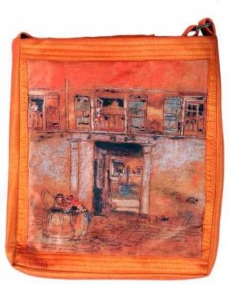 The Museum Outlet Girls Multicolor Canvas Messenger Bag