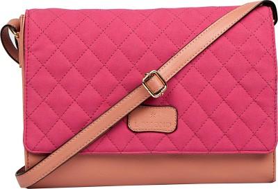 Lomond Women Evening/Party Pink PU Sling Bag