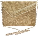 Rivet Women Beige PU Sling Bag