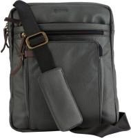 Gekko Men & Women Grey Genuine Leather Sling Bag