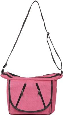 Benicia Women Pink Jute Sling Bag