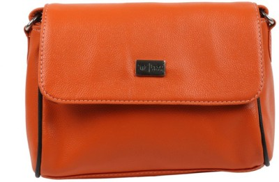Beau Design Women Orange PU Sling Bag