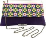 Bhamini Women Festive Purple Silk Sling ...