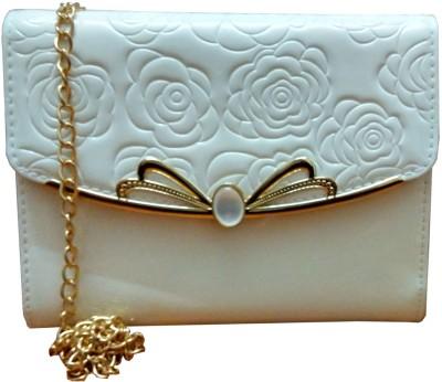Lasslee Women White PU Sling Bag
