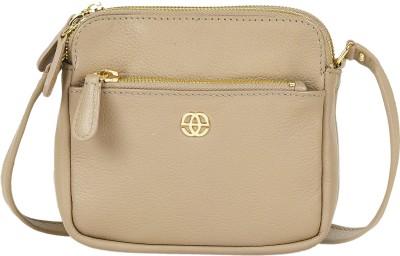Eske Girls Grey Genuine Leather Sling Bag