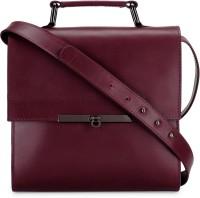 Phive Rivers Women Maroon Genuine Leather Sling Bag