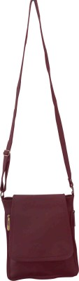 Clicktin Women Casual Purple PU Sling Bag