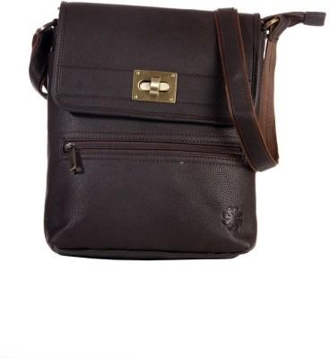 FabU Men, Women Casual Brown Leatherette Sling Bag