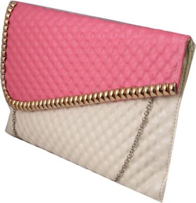 ARMADIO Girls Pink, Beige Leatherette Sling Bag