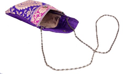 Angelfish Girls Casual Purple Brocade Sling Bag