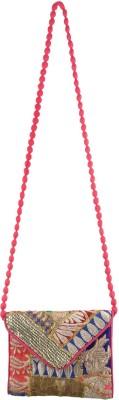 Arisha kreation Co Women Pink Silk Sling Bag