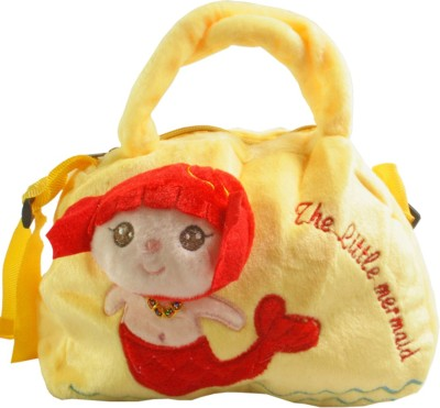 JM Girls Yellow Polyester Sling Bag