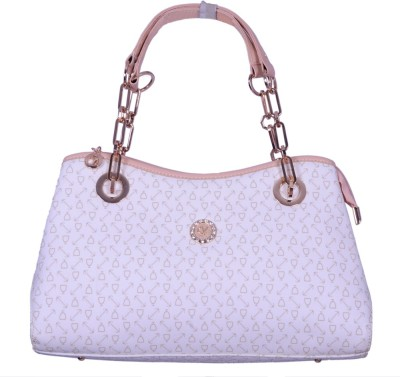 Ruff Women White PU Hand-held Bag