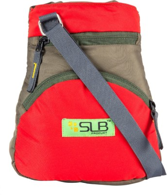 SLB Girls Casual Green, Red Canvas Sling Bag