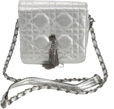 Knighthood Women Silver PU Sling Bag