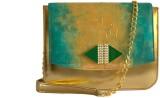 Demure Women Formal Green, Gold Canvas, ...