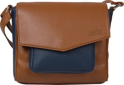 Lapis O Lupo Women Brown PU Sling Bag