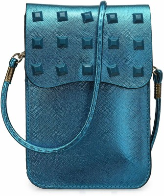 Bags Craze Women Blue PU Sling Bag