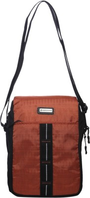 Harissons Men, Women Casual Brown Nylon Sling Bag