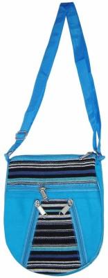 Saffron Craft Men, Women Casual, Formal Blue, Black, White Canvas Sling Bag