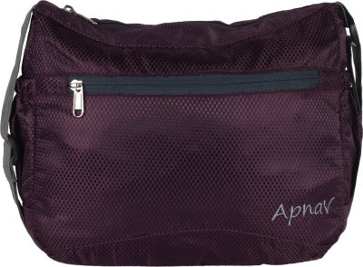 Apnav Boys, Girls, Women Purple Polyester Sling Bag