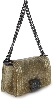 Amatra Girls, Women Gold PU Sling Bag