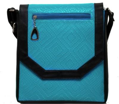 Flamboyance Girls Blue, Black PU Sling Bag