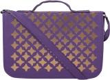 Coash Women Purple PU Sling Bag
