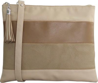 Toteteca Women Beige PU Sling Bag