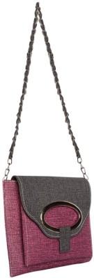 Bueva Girls, Women Purple, Black PU Sling Bag
