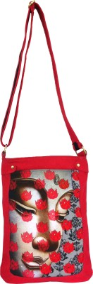 Carry on Bags Girls Casual Red Canvas Sling Bag