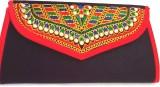 Indian Swan Women Black Cotton Sling Bag