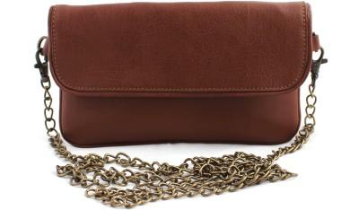 ZEPPAR Girls, Women Brown Leatherette Sling Bag