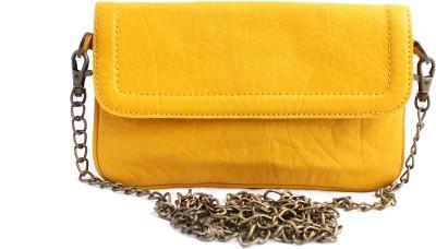ZEPPAR Girls, Women Yellow Leatherette Sling Bag