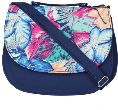 PST Girls, Women Blue, Multicolor PU Sling Bag