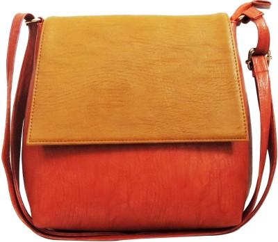 Kion Style Girls, Women Red, Beige Leatherette Sling Bag