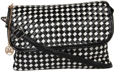 Moedbuille Women Black PU Sling Bag