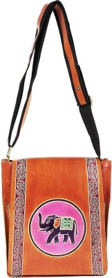 Bags Craze Women, Girls Casual Brown Genuine Leather Sling Bag