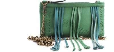 ZEPPAR Girls, Women Green Leatherette Sling Bag