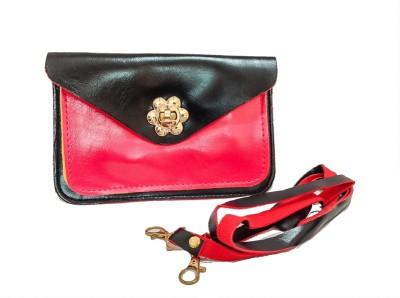 Bagzmania Women, Girls Evening/Party, Festive, Formal, Casual Black, Pink Leatherette Sling Bag